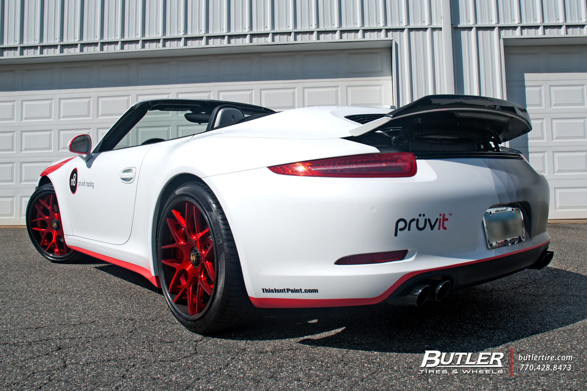Porsche 991 - 911 Carrera GTS with 20in Avant Garde F410 Wheels