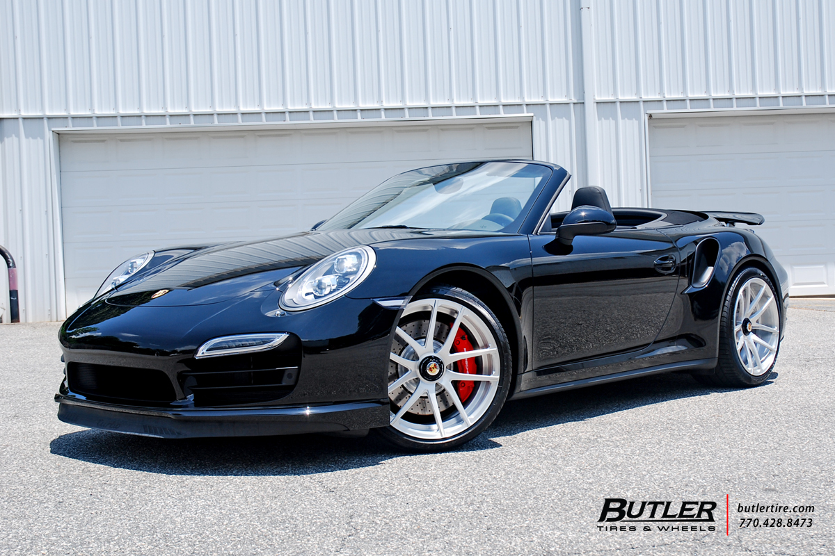 Porsche 991 - 911 Turbo with 20in Savini SV40 Wheels