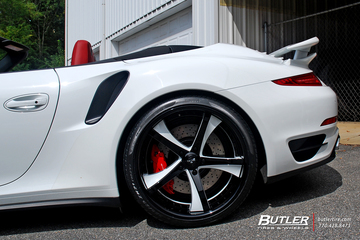 Porsche 991 - 911 Turbo with 21in Savini SV29 Wheels