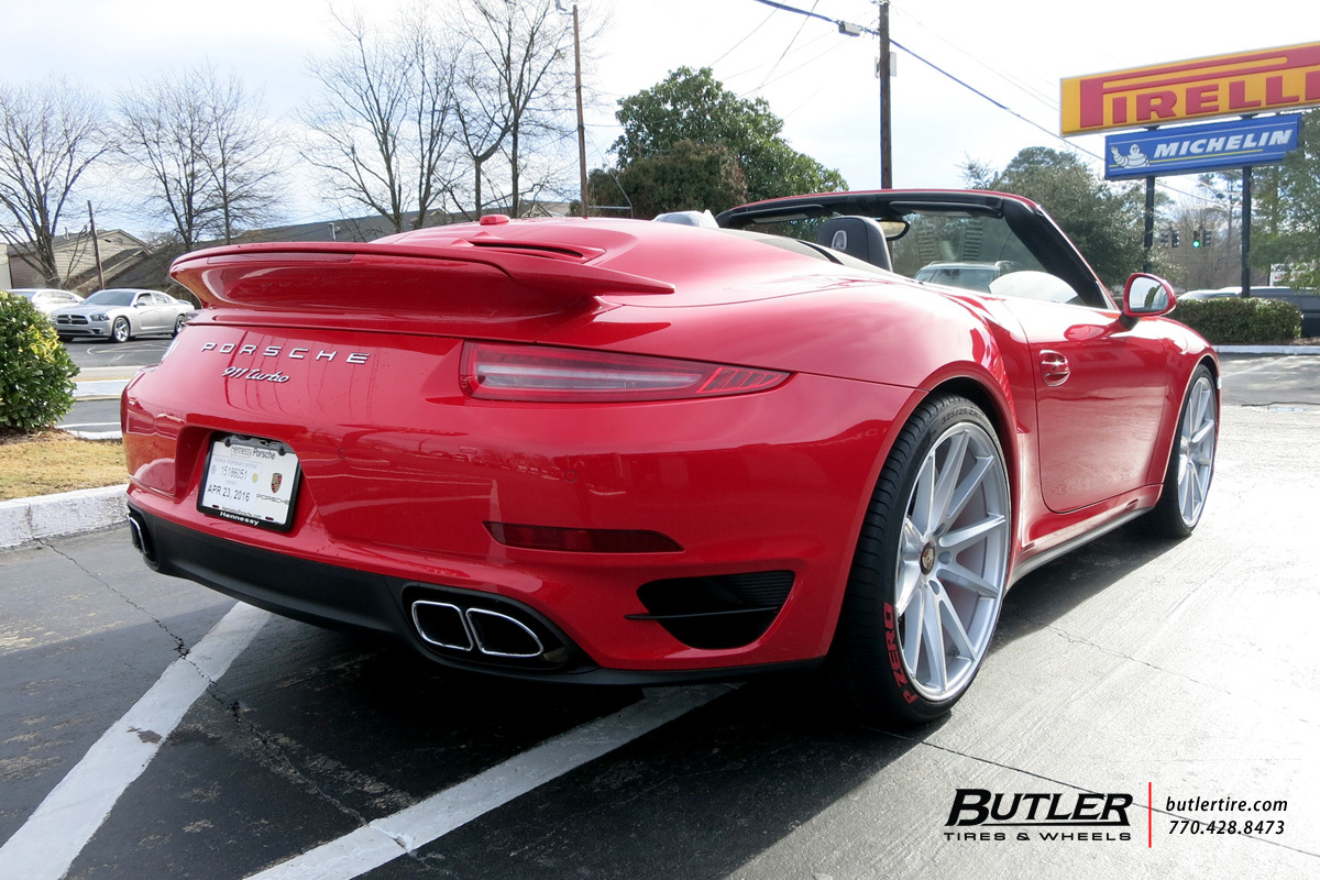 Porsche 991 - 911 Turbo with 21in Vossen VFS1 Wheels