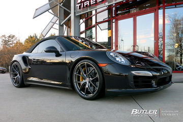 Porsche 991 - 911 Turbo S with 21in HRE P101 Wheels