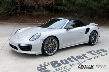 Porsche 991 - 911 Turbo S with 21in HRE P200 Wheels