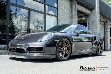 Porsche 991 - 911 Turbo S with 21in Vossen VPS-302T Wheels