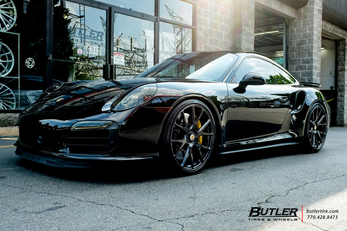 porsche 991 911 turbo s with 21in vossen vps 306 wheels exclusively from butler tires and. Black Bedroom Furniture Sets. Home Design Ideas