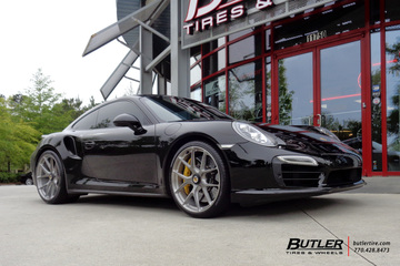 Porsche 991 - Turbo with 21in HRE P101 Wheels