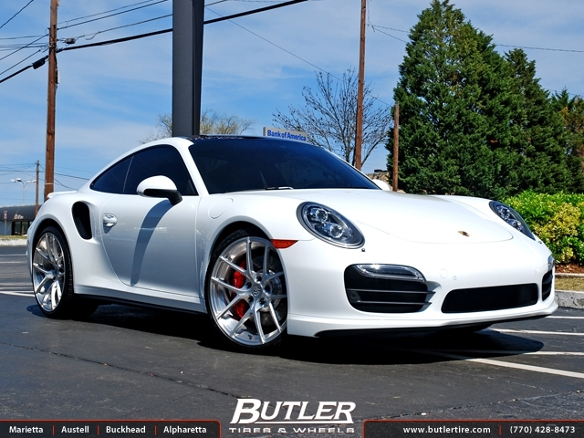Porsche 991 - 911 Turbo with 20in Vorsteiner V-FF 101 Wheels