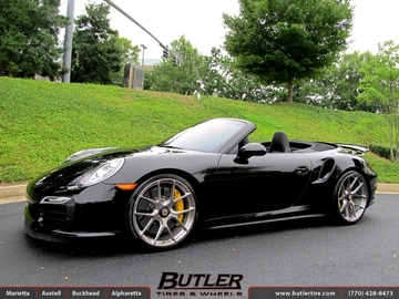 Porsche 991 - Turbo S with 21in HRE P101 Wheels