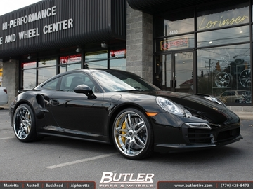 Porsche 991 - Turbo S with 21in Savini SV2 Wheels