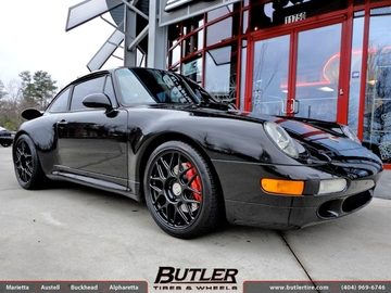 Porsche 993 Turbo with 18in HRE R40 Wheels