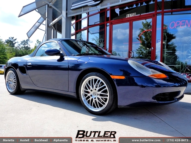 Porsche Boxster with 18in Victor Lemans Wheels