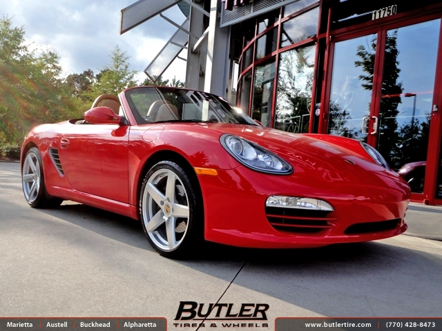 Porsche Boxster with 19in Victor Baden Wheels