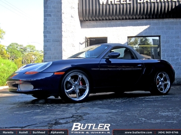 Porsche Boxster with 19in Victor Turismo Wheels