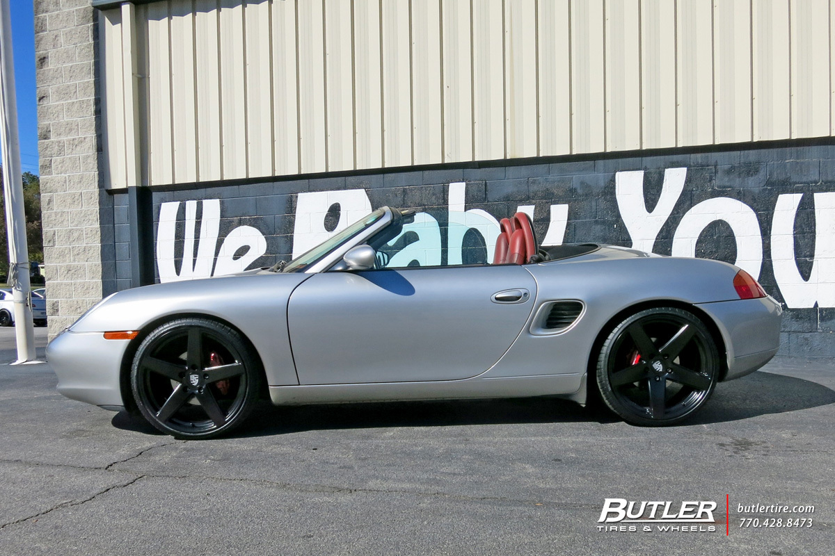 Porsche Boxster with 20in Victor Baden Wheels