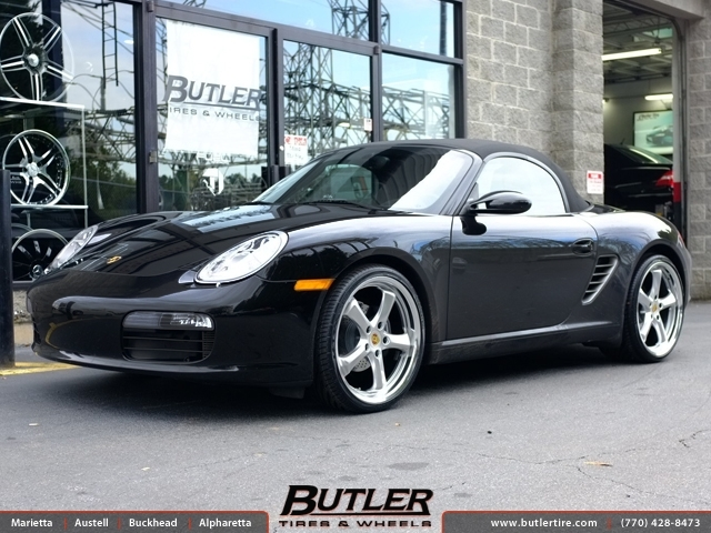 Porsche Boxster with 20in Victor Turismo Wheels