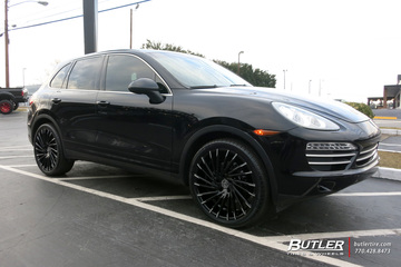 Porsche Cayenne with 22in Lexani Wraith Wheels