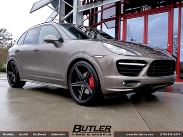 Porsche Cayenne with 22in Niche Apex Wheels