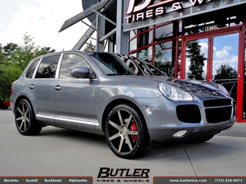 Porsche Cayenne with 22in Niche Verona M150 Wheels