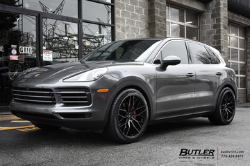Porsche Cayenne with 22in Savini SV-F2 Wheels