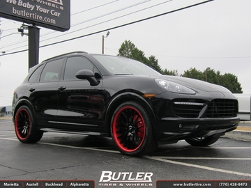 Porsche Cayenne with 22in Savini SV23s Wheels
