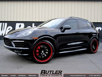 Porsche Cayenne with 22in Savini SV42c Wheels