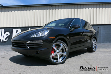 Porsche Cayenne with 22in Savini SV56c Wheels