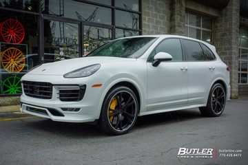 Porsche Cayenne with 22in Techart Formula III Wheels