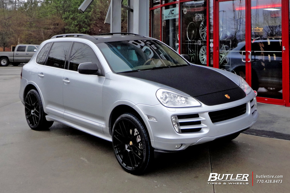 Porsche Cayenne with 22in Victor Innsbruck Wheels exclusively from Butler Tires and Wheels in ...