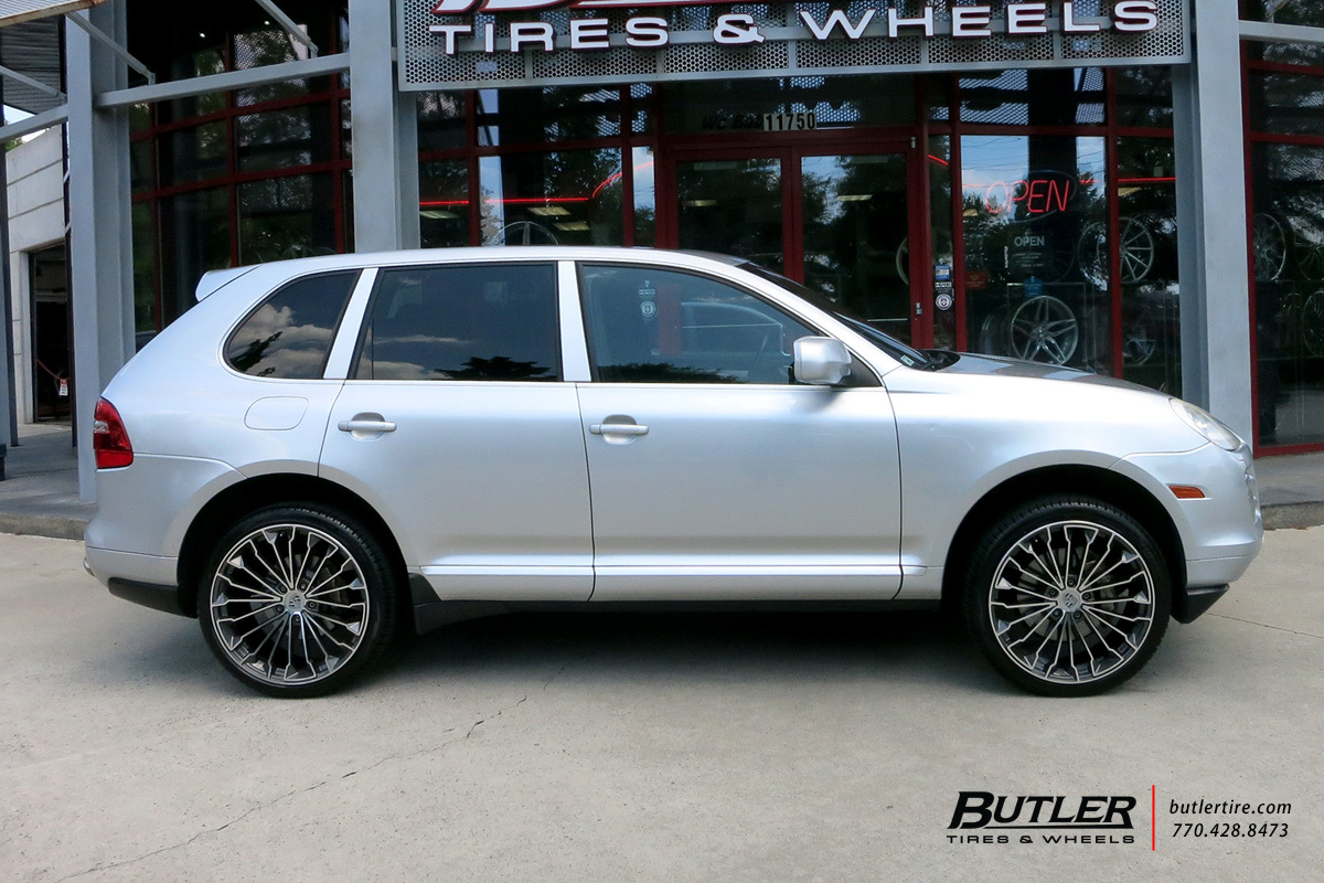 Porsche Cayenne with 22in Victor Wurttemburg Wheels
