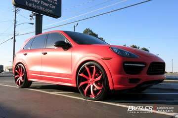 Porsche Cayenne with 24in Forgiato Fondare ECL Wheels