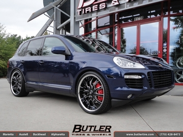 Porsche Cayenne with 24in Lexani LSS10 Wheels