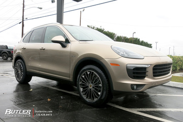 Porsche Cayenne with  Victor Wurttemburg Wheels