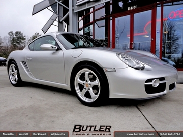 Porsche Cayman with 18in Victor Turismo Wheels