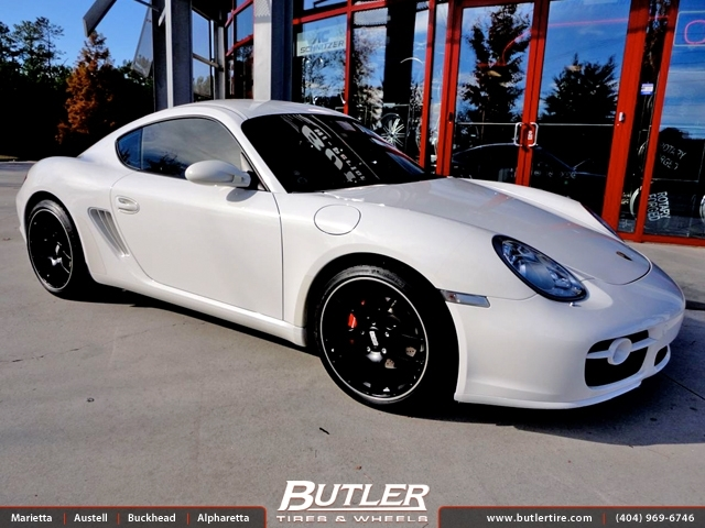 Porsche Cayman with 19in BBS CH-R Wheels