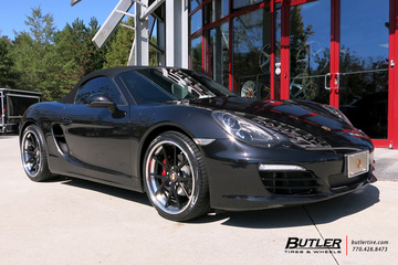 Porsche Cayman with 20in Rennen R55X Wheels