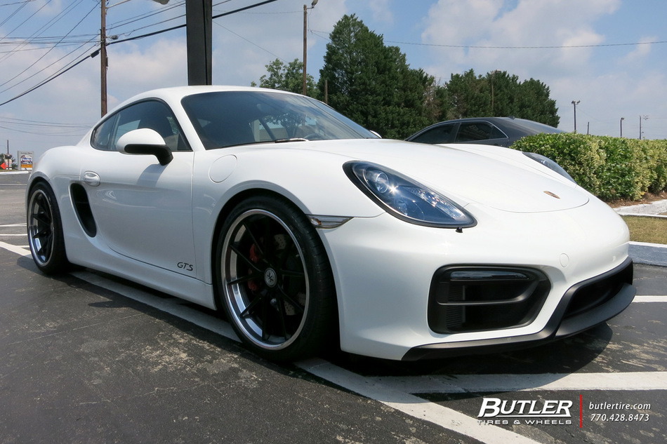 Porsche Cayman With 20in Rennen R55x Wheels Exclusively