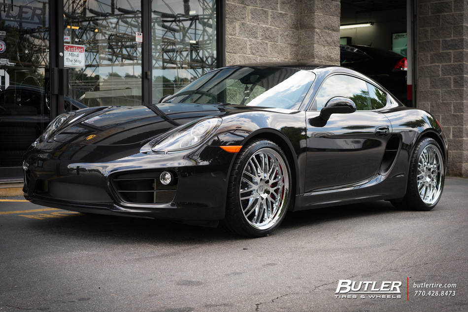 porsche cayman   victor lemans wheels exclusively  butler tires  wheels