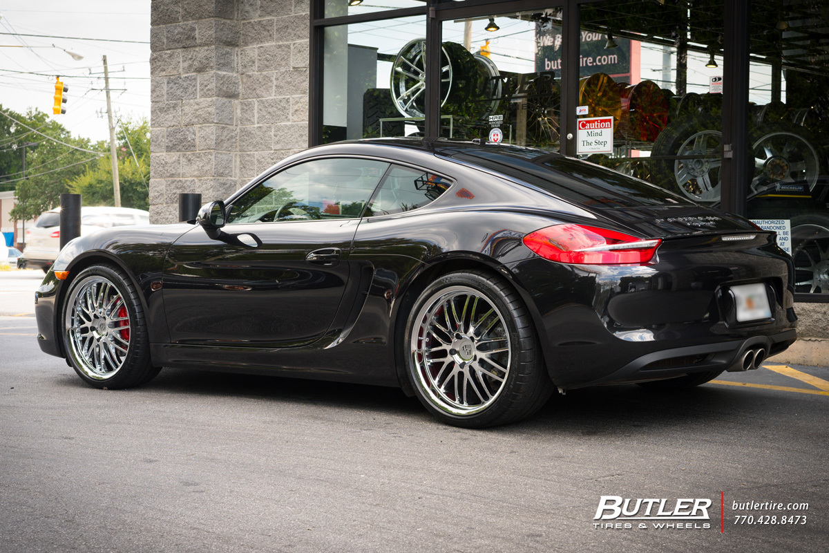 Porsche Cayman with 20in Victor Lemans Wheels