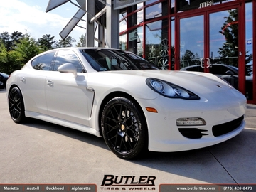 Porsche Panamera with 20in Victor Innsbruck Wheels
