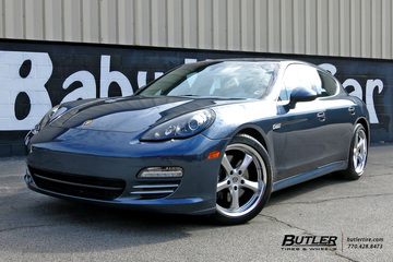 Porsche Panamera with 20in Victor Turismo Wheels