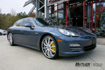 Porsche Panamera with 22in Asanti DA160 Wheels