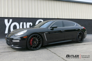 Porsche Panamera with 22in Avant Garde M615 Wheels