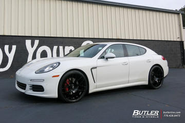 Porsche Panamera with 22in Avant Garde Ruger Mesh Wheels