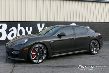 Porsche Panamera with 22in Forgiato Fondare ECL Wheels