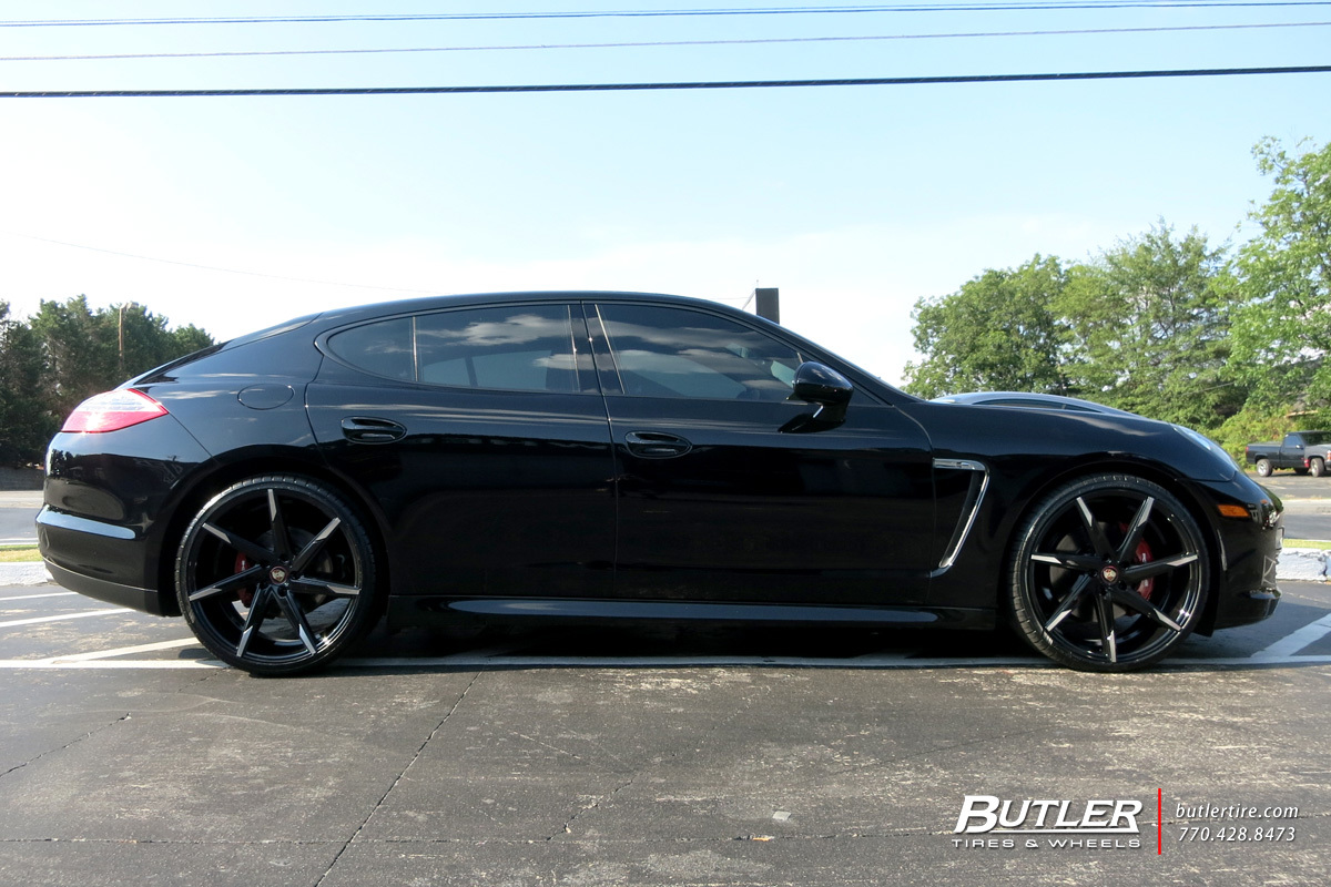 Porsche Panamera with 22in Lexani CSS7 Wheels