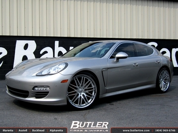 Porsche Panamera with 22in Lexani CVX 44 Wheels