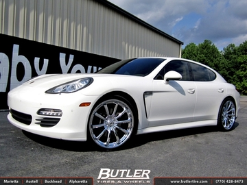 Porsche Panamera with 22in Lexani CVX 55 Wheels