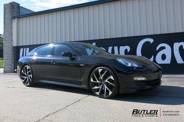 Porsche Panamera with 22in Lexani Ghost Wheels