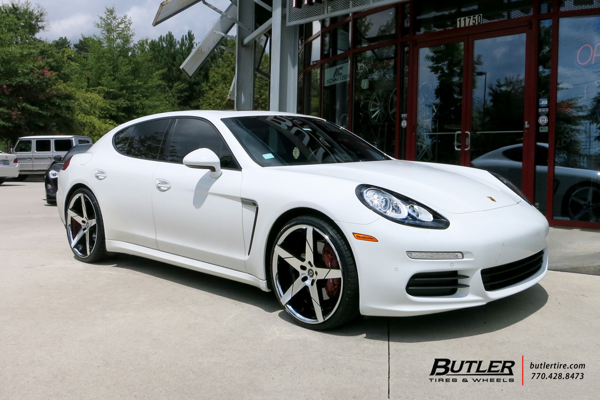 Porsche Panamera with 22in Lexani Invictus Wheels