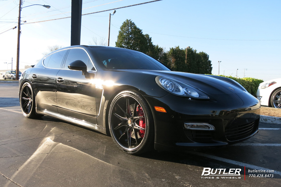 Porsche Panamera with 22in Lexani R-Twelve Wheels exclusively from Butler Tires and Wheels in ...