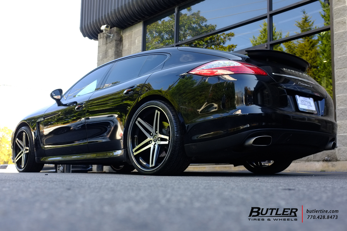 Porsche Panamera with 22in Lexani R-Five Wheels